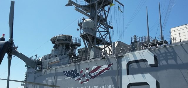 This was awesome, especially getting to board the USS America!